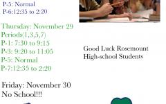 Schedule for Finals